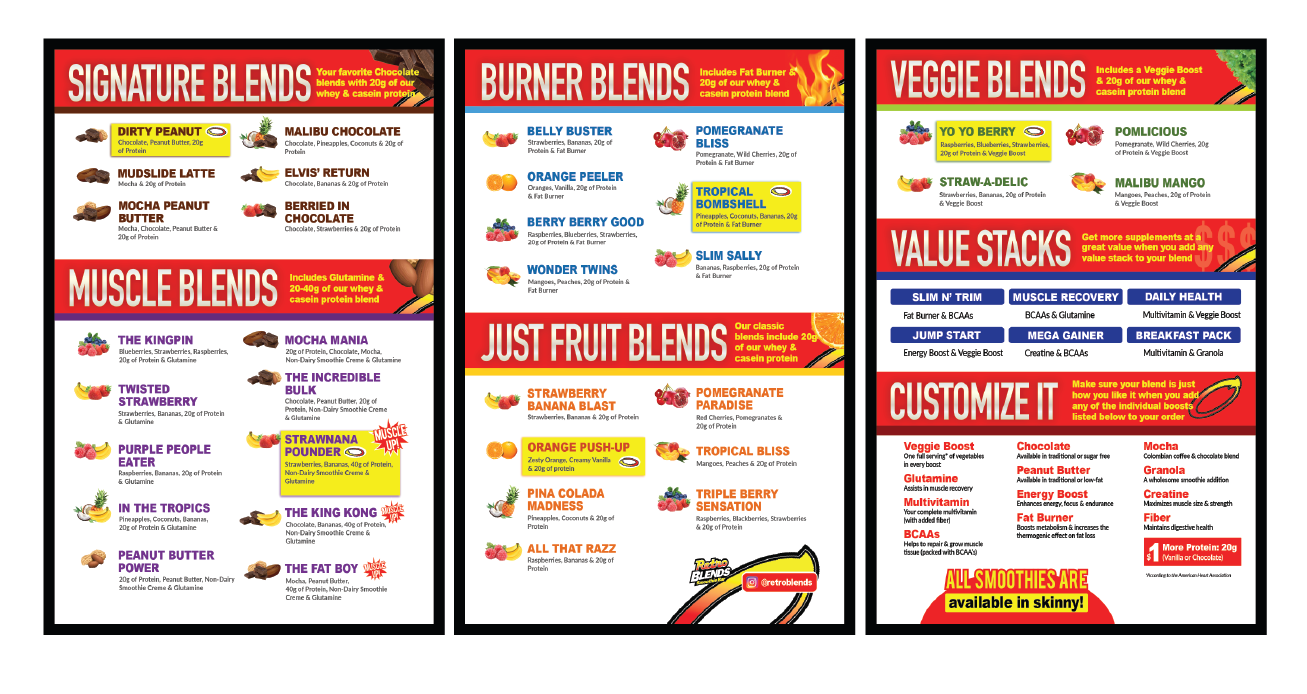 Website Graphics Retro Blends New Menu Layout