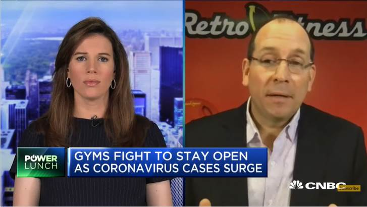 "Gyms Fight To Stay Open As Coronavirus Cases Surge (CNBC's ""Power Lunch"")"