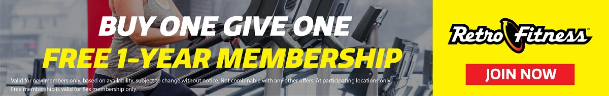 Buy One Give One - Free 1 Year Membership!