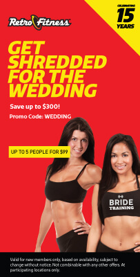 Get Shredded for The Wedding  - Save upto $300!