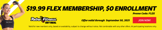 Join Now with $19.99 Flex Membership - $0 Enrollment & No Commitment!