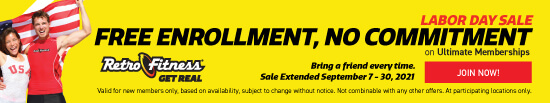 Labor Day Sale - Join for $0 Enrollment - No Commitment on Ultimate Memberships!